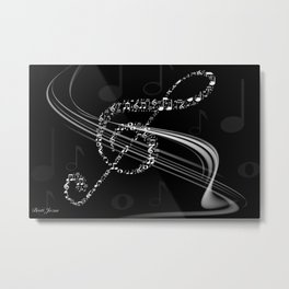DT MUSIC 8 Metal Print