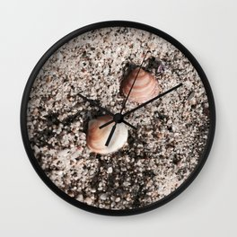 Shells and Sand Wall Clock