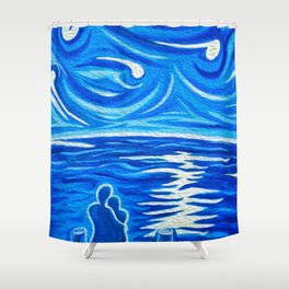 Stary Stary Love Shower Curtain