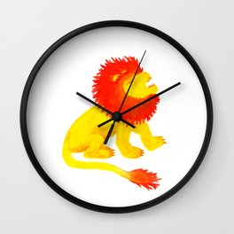 The Song of the Lion is Fire Wall Clock