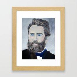 HERMAN MELVILLE - oil portrait Framed Art Print