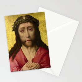 Christ crowned with Thorns, 15th Century Painting Stationery Cards