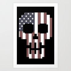 American Skull 2 Art Print