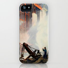 Oakley, Thornton (1881-1953) - Scribner's 52 1912 - Construction of New Grand Central Station iPhone Case