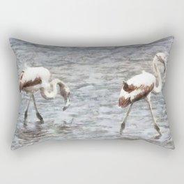 Be A Flamingo Watercolor Rectangular Pillow