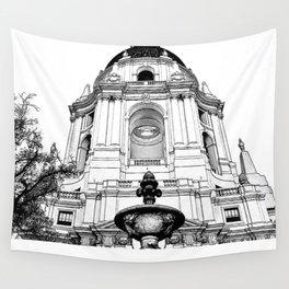 Close Up - City Hall Pasadena. Wall Tapestry