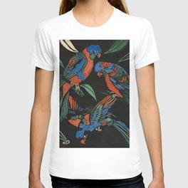 """Lorikeets"" Woodcut by Margaret Preston T-shirt"