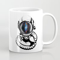 spaceman Mugs featuring Spaceman by Clever_Lion_Creations