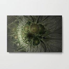 Fractal Moss Metal Print