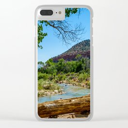 Virgin River at Zion Clear iPhone Case