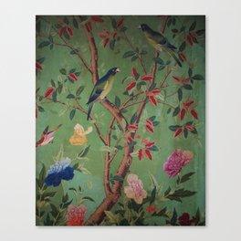 Green Dream Chinoiserie Canvas Print