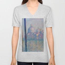 Le Grand Canal by Claude Monet Unisex V-Neck