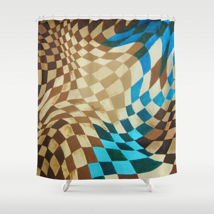 Super Space Warp Shower Curtain