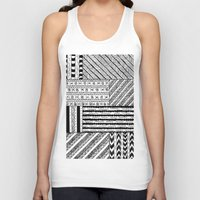 black white Tank Tops featuring Black&White White&Black by Kaitlyn_Michelle_