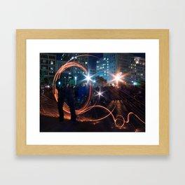 Half Man Framed Art Print