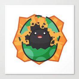 Hatching Tamagotchi (Green) Canvas Print