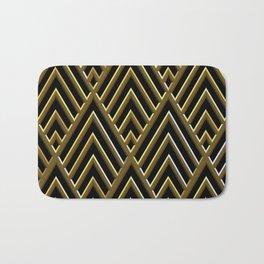 Art Deco 3-D Luxurious Gold and Black Pattern Bath Mat