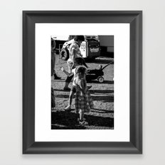 Little Girls at the Carnival Framed Art Print