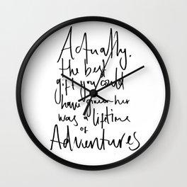 Aventure Quote - Alice in Wonderland Wall Clock