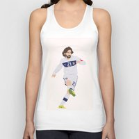 juventus Tank Tops featuring  Andrea Pirlo by Marwan Baghdadi