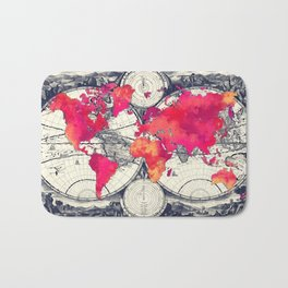 World map 10 #worldmap #map Bath Mat