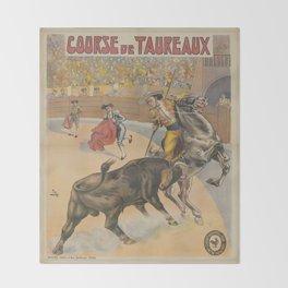 Vintage poster - Course de Taureaux Throw Blanket