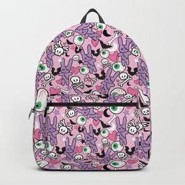 Pastel Goth Bunny Eyeball Backpack