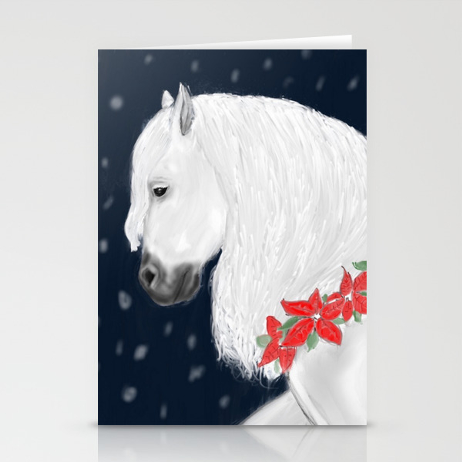 Christmas Horse Stationery Cards By Lmallen Society6