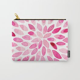 Watercolor brush strokes - pink Carry-All Pouch