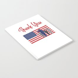 Thank You For Your Service Patriotic Veteran Notebook