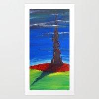 dark tower Art Prints featuring The Dark Tower by artJMOB