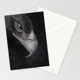 'GAZE' - Wedge Tail Eagle, original artwork in Charcoal & Pastel Stationery Cards