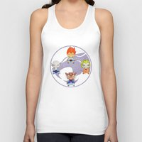 thundercats Tank Tops featuring A Boy - A Girl - Thundercats by Christophe Chiozzi