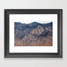 Mountain Layers (Eastern Sierra Nevadas, California) Framed Art Print