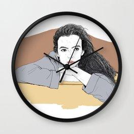 Waiting Jodie Wall Clock