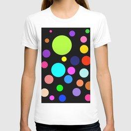 Circles on Black T-shirt