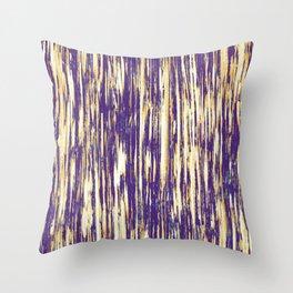Ikat Streaks in Royal Gold Throw Pillow