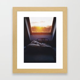Sunset in bed Framed Art Print