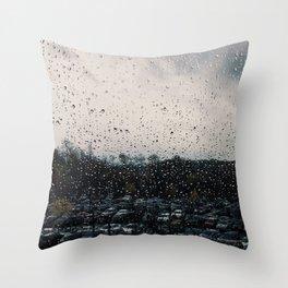 Rainy Grey Throw Pillow