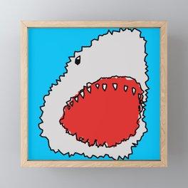 Shark Teeth Framed Mini Art Print