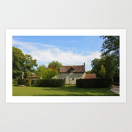A lovely french cottage Art Print