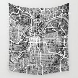 Kansas City Missouri City Map Wall Tapestry