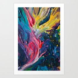 Bird Flower Art Print