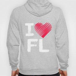 I Love Florida Cool Tourist Gift Hoody