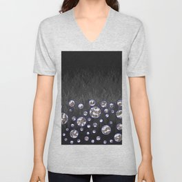 Asteroid Belt of Silver Moons Unisex V-Neck