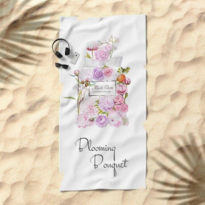 Parfum Perfume Fashion Floral Flowers Blooming Bouquet Beach Towel