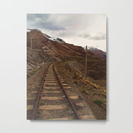 TrainTrack Metal Print