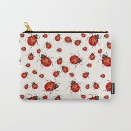 LOVING RED LADY BUGS  ON WHITE COLOR DESIGN ART Carry-All Pouch