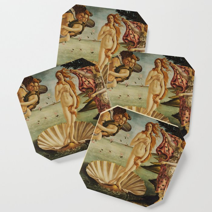 The Birth of Venus by Sandro Botticelli Coaster
