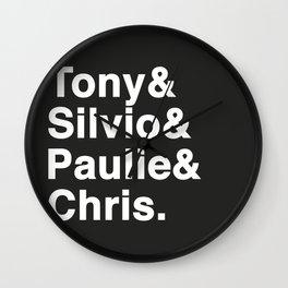 Tony & Silvio & Paulie & Chris. Wall Clock